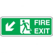 Safe Safety Sign - Fire Door Left Down 106